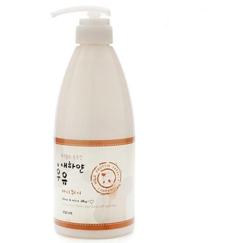 Sữa tắm trắng 100% Hàn Quốc Welcos White Milk Body Wash Cao cấp Hàn Quốc 750ml - Hàng chính hãng
