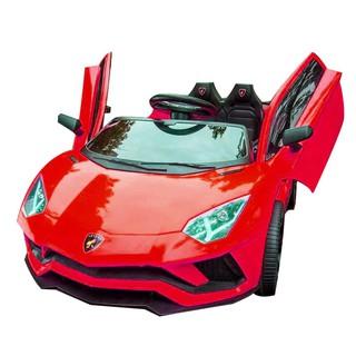 Ô tô xe điện KIDVIET-PRO Lamboghini LT-998 đồ chơi cao cấp 2 chỗ ngồi kiểu dáng thể thao (Đỏ-Cam-Trắng)