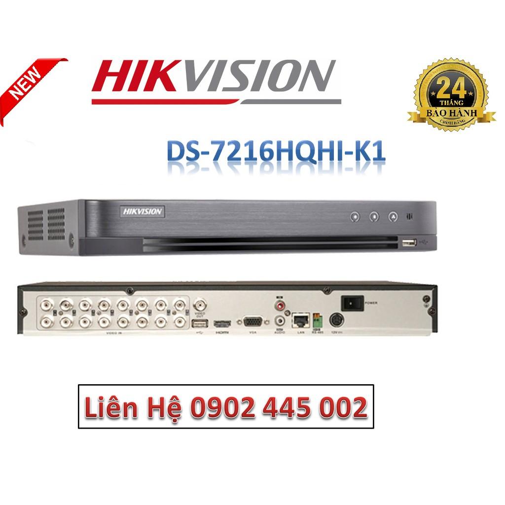 Đầu ghi hình HD-TVI 16 kênh TURBO 4.0 HIKVISION DS-7216HQHI-K1 (S)