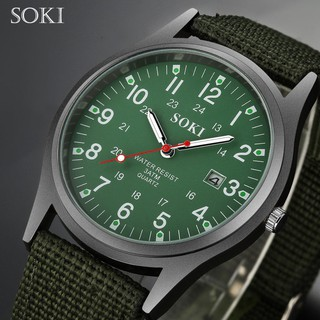 [ CHÁY HÀNG ] Đồng hồ Unisex SOKI SK03 dây nato cực chất, kiểu dáng quân đội thể thao, rẻ đẹp phù hợp mọi độ tuổi thumbnail