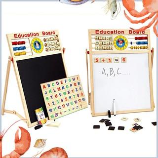 [Giá Sốc] Bảng gỗ nam châm giáo dục 2 mặt cho bé viết vẽ, học số, học chữ cái [Mới]