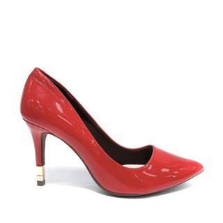 Min s Shoes- Giày Cao Gót Da Bóng D342 Đỏ thumbnail