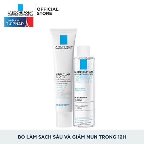 Bộ Đôi La Roche-Posay Kem Giảm Mụn , Ngừa Thâm Effaclar Duo+ Corrective 40ml - E010