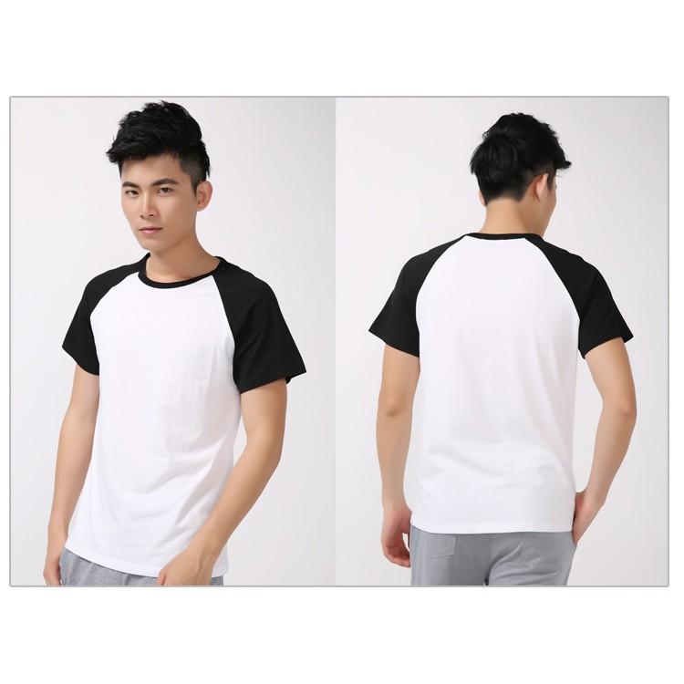 Áo thun raplan trắng tay đen (nhiều size) - áo thun cộc tay đẹp, thấm mồ hôi Áo ba lỗ