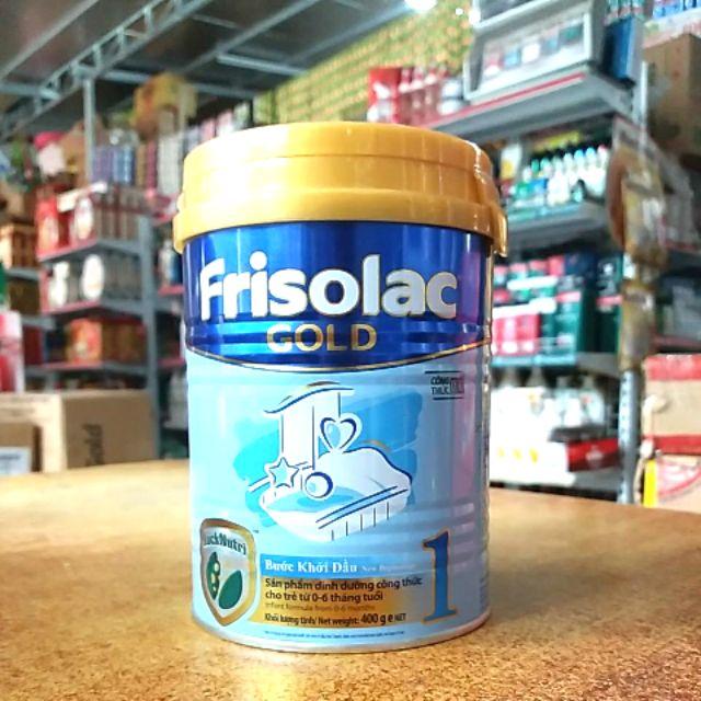 Sữa bột Frisolac gold 1 lon 400g cho trẻ từ 0 - 6 tháng tuổi. _hang9079shop