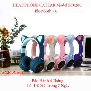 [Bản Cao Cấp] Tai Nghe Tai Mèo HEADPHONE CATEAR Model BT028C Bluetooth 5.0 Chống Ồn, Bass Chắc, Êm Tai