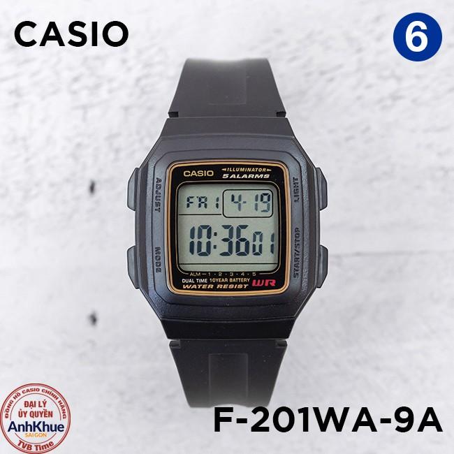 Đồng hồ nam dây nhựa Casio Standard chính hãng Anh Khuê F-200 & F-201 Series