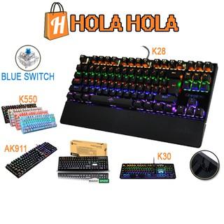 Bàn phím cơ game thủ Detek K28 K30 có đèn LED - thiết kế mới thumbnail