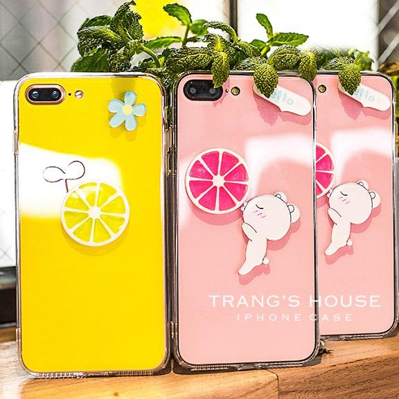 Ốp Lưng Iphone Pink Lemon Và Yellow Lemon
