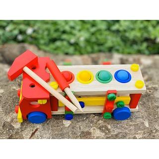 Đồ chơi sạch Cánh Diều – Đồ chơi kỹ năng – Xe đập bóng lắp ráp sáng tạo (kèm học liệu)