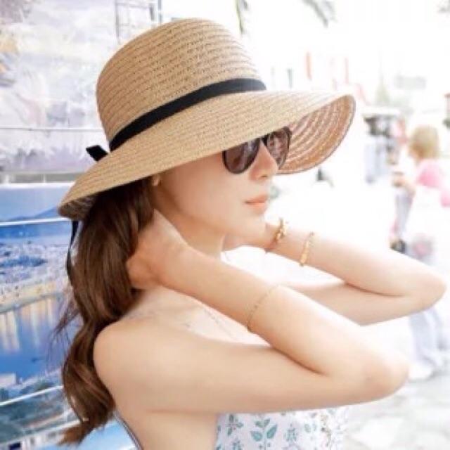 Mũ cói thời trang đi biển