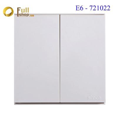 Module Công tắc đôi 2 chiều 16A vuông cao cấp Simon Series E6 721022