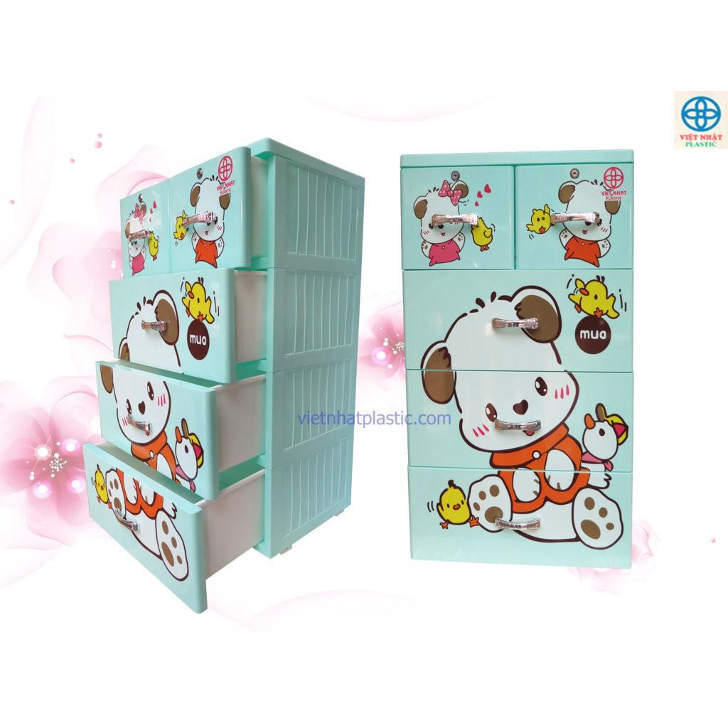[122 KG] Tủ nhựa Việt Nhật Lucky bốn tầng trắng xanh dương hồng xanh ngọc với các họa tiết như dorae - 3500376 , 958490610 , 322_958490610 , 830000 , 122-KG-Tu-nhua-Viet-Nhat-Lucky-bon-tang-trang-xanh-duong-hong-xanh-ngoc-voi-cac-hoa-tiet-nhu-dorae-322_958490610 , shopee.vn , [122 KG] Tủ nhựa Việt Nhật Lucky bốn tầng trắng xanh dương hồng xanh ngọc vớ