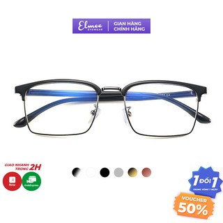 Kính gọng vuông nửa viền Elmee E6205 dáng mắt to dành cho nam và nữ - có cắt mắt cận thumbnail