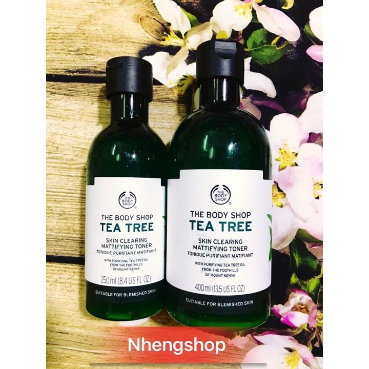 [FUll 250/400ml] Nước hoa hồng TEA TREE SKIN CLEARING TONER The Body Shop