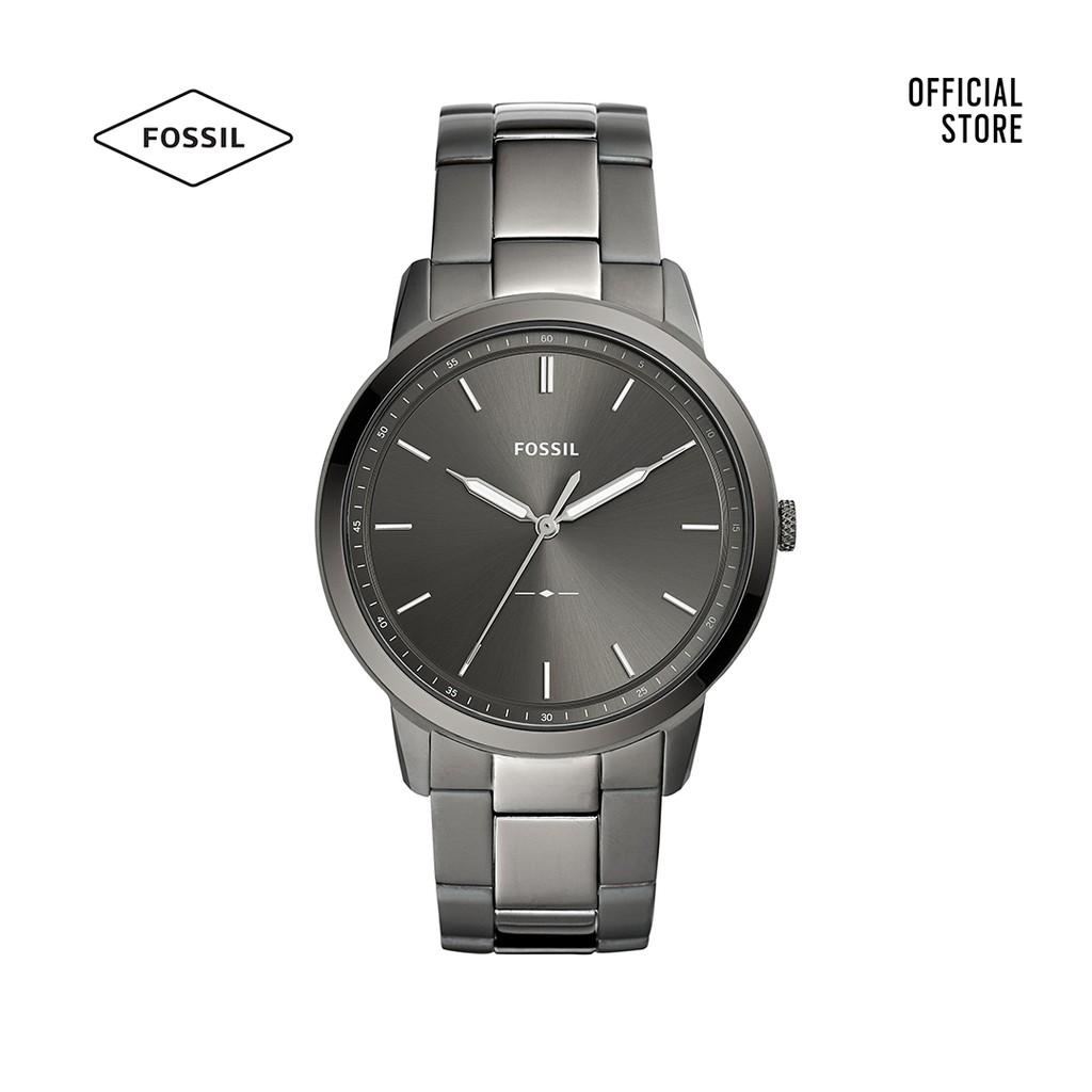 Đồng hồ Kim nam Fossil THE MINIMALIST 3H dây kim loại FS5459 - khói