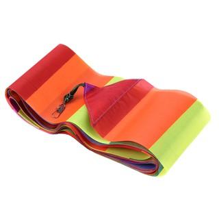 [CARE] 10 Meters Rainbow Bar Kite Tail for Delta Kite Stunt Kite Kite Accessory