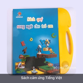 [Sách cảm ứng] Đồ chơi sách cảm ứng đọc chữ, hát nhạc, kể chuyện song ngữ dành cho bé