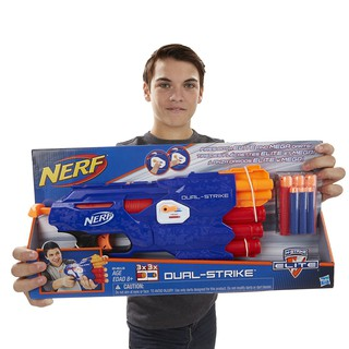 [Mã NOWSHIPMOI hoàn 100% xu đơn 0Đ] Đồ chơi Nerf Dual Strike + 10 thanh xốp