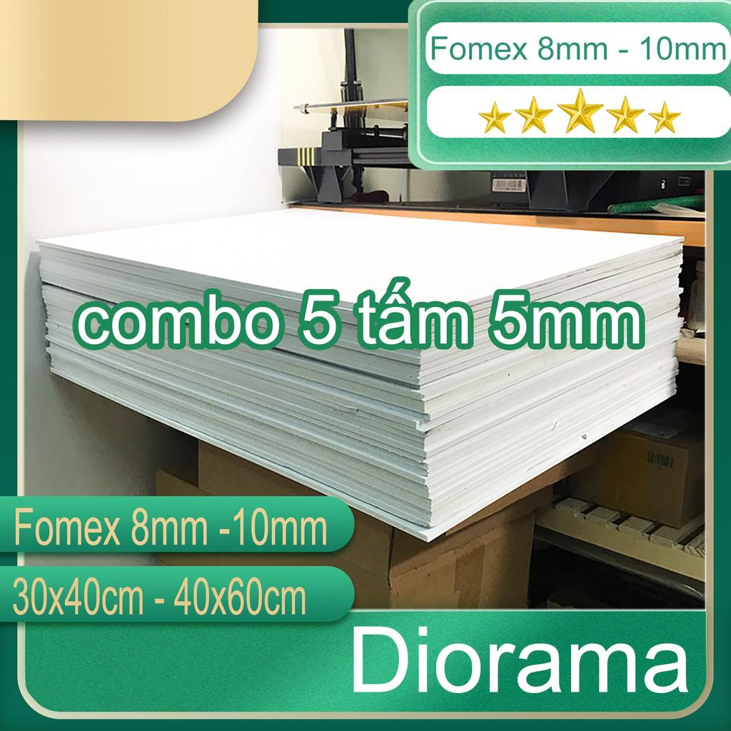 combo 5 tấm bìa mô hình 5mm ( fomex )