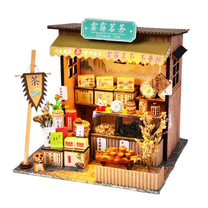 Mô hình nhà búp bê – cửa tiệm bán trà xanh – Chinese Tea