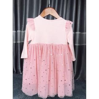Váy hồng chân váy ren sao