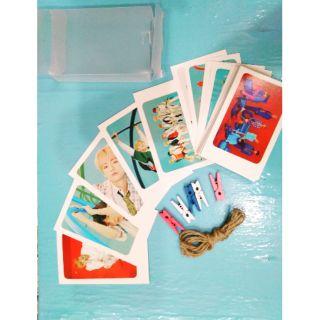 BỘ LOMO 32 TẤM CARD BTS ( kẹp + dây) [LIN]