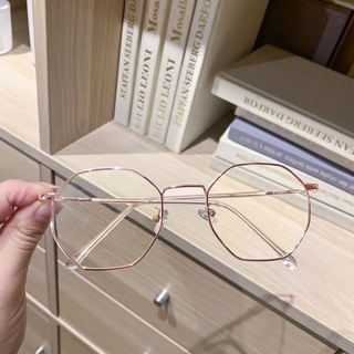 Nearsighted Glasses Female Student Korean Fashion Can Be Equipped with Degrees Polygon Glasses Frame Anti-Blue Radiation Plain Mirror Male 2ySS
