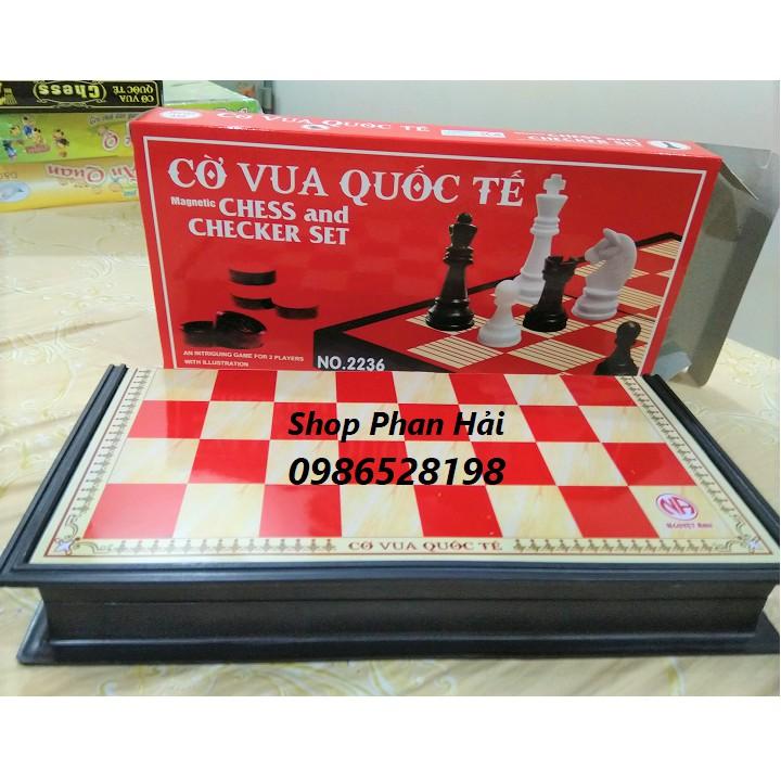 Bộ cờ vua quốc tế nam châm cỡ lớn và cỡ vừa