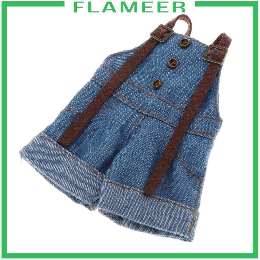 [FLAMEER] 1/6 Doll Clothes Shorts Overalls for 12 inch Blythe BJD PH Doll Accessories