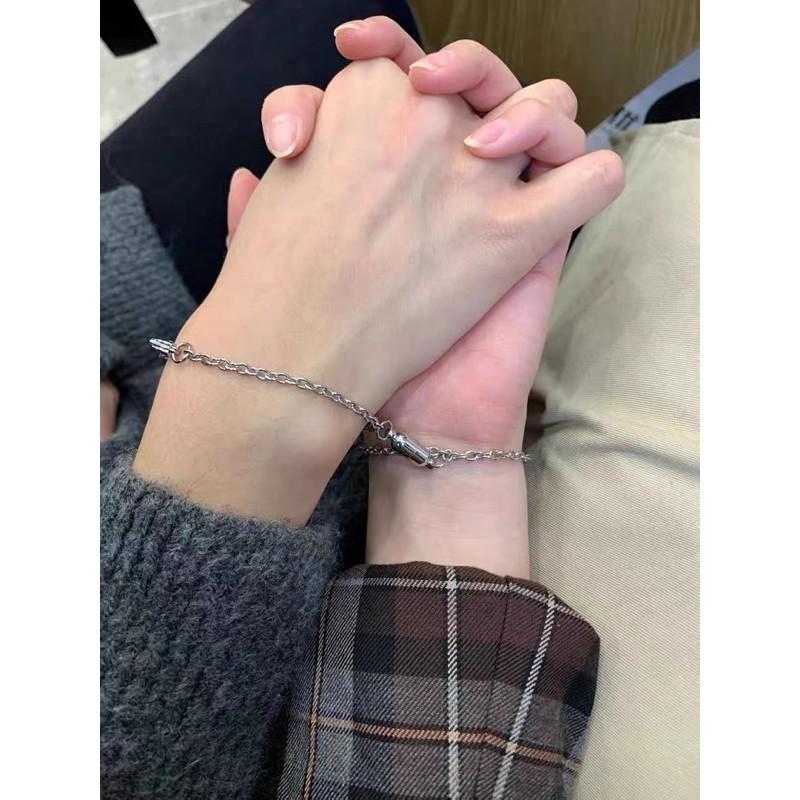 [Mã FAMAYFA giảm 10K đơn 50K] Vòng tay đôi nam châm tình yêu