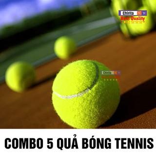 (Combo 5 Trái) Banh, Bóng Tennis Cũ CHIRITA