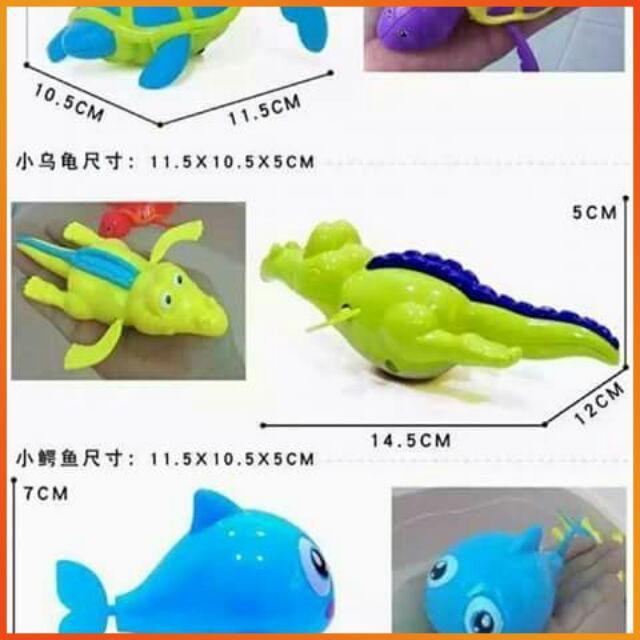 [HÀNG THẬT] – Đồ chơi sinh vật biển biết bơi (dây cót, kích thước 10 đến 15cm)