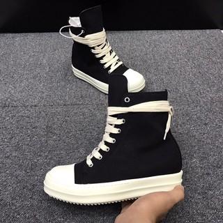 [ vip 666 ] Siêu phẩm giày thời trang cao cấp Rick Owen cao cổ đế thơm