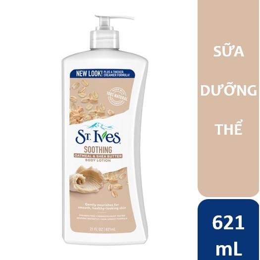 Sữa dưỡng thể St.Ives Yến Mạch Và Bơ Shea 621ml - bao bì mới