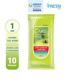 Khăn ướt chăm sóc gia đình Fressi Care Apple gói 10 miếng gói