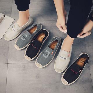 Slip on nam 2019 - Giày lười vải nam cao cấp - Vải polyester 3 màu đen, xám và trắng ngà - Mã SP 2923 thumbnail