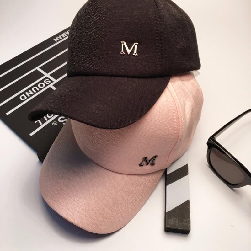 Hat female spring and summer Korean version of the cap female visor white pink wild tide baseball cap M cap