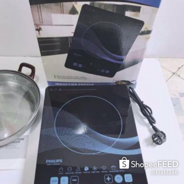 Bếp từ đơn Philips PL-01 (Thái Lan) tặng kèm nồi lẩu- bếp điện từ
