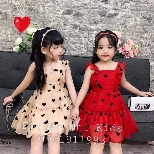 [Váy_xinh_bé_gái] Váy tim xinh cho b