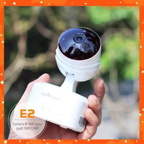 . {GÍA SỐC}Camera ip wifi không dây Ebitcam E2-1 MP(720P)Tăng khả năng lưu trữ gấp 5 lần camera thông thường BH 2 năm .