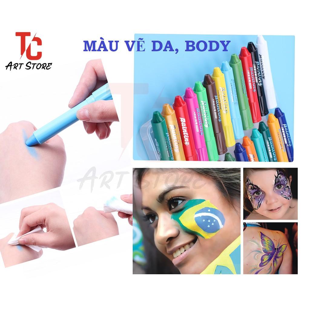 Màu vẽ lên mặt ( DA, BODY) Baoke CH06 (hộp 6 màu)