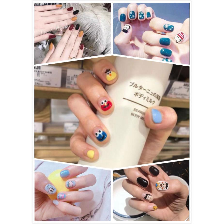 Set 14 nhãn dán trang trí móng tay chống thấm nước phong cách Hàn