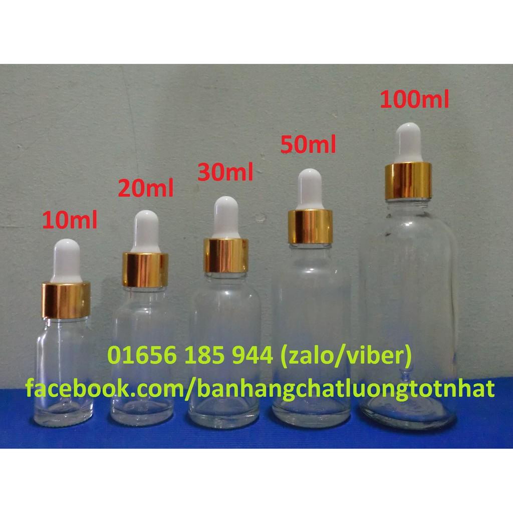 Combo 50 chai tinh dầu bóp giọt 50ml (chai serum) giá rẻ