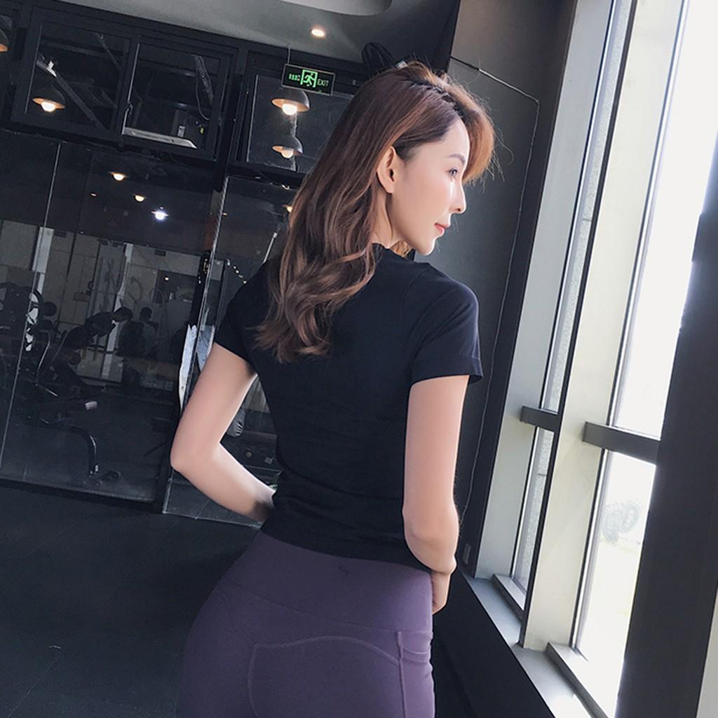 Mặc gì đẹp: Áo tập gym yoga nữ AMIN AM020 vải cao cấp thông thoáng co dãn 4 chiều thấm hút mồ hôi