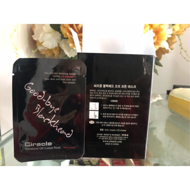 Mặt nạ lột mụn Goodbye Blackhead hàng chính hãng Hàn Quốc nguyên hộp