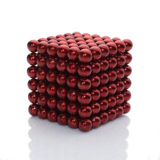 Bộ nam châm xếp hình Bucky Balls 5mm 216 viên màu đỏ