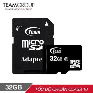 Thẻ nhớ MicroSD TEAMGROUP Box Class10 16G/32G/64GB/128GB  Chính hãng (Chuyên dùng Camera) chính hãng bảo hành 2 năm 1 đổ