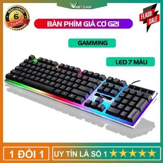 Bàn phím giả cơ chuyên game cao cấp g21 led 7 màu