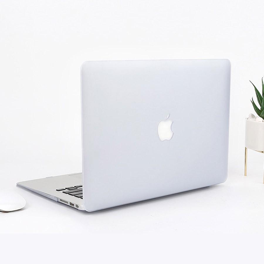 Combo Ốp Macbook + Phủ Phím Màu Trong Mờ (Tặng Nút Chống Bụi & Hộp Đựng Tai Nghe )